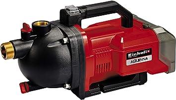 Einhell AQUINNA Power X-Change, Bomba de jardín a batería (2 x 18V, interruptor ECO de 2 escalones, tornillo de entrada y salida de agua, protección térmica, sin baterías ni cargador): Amazon.es: Bricolaje