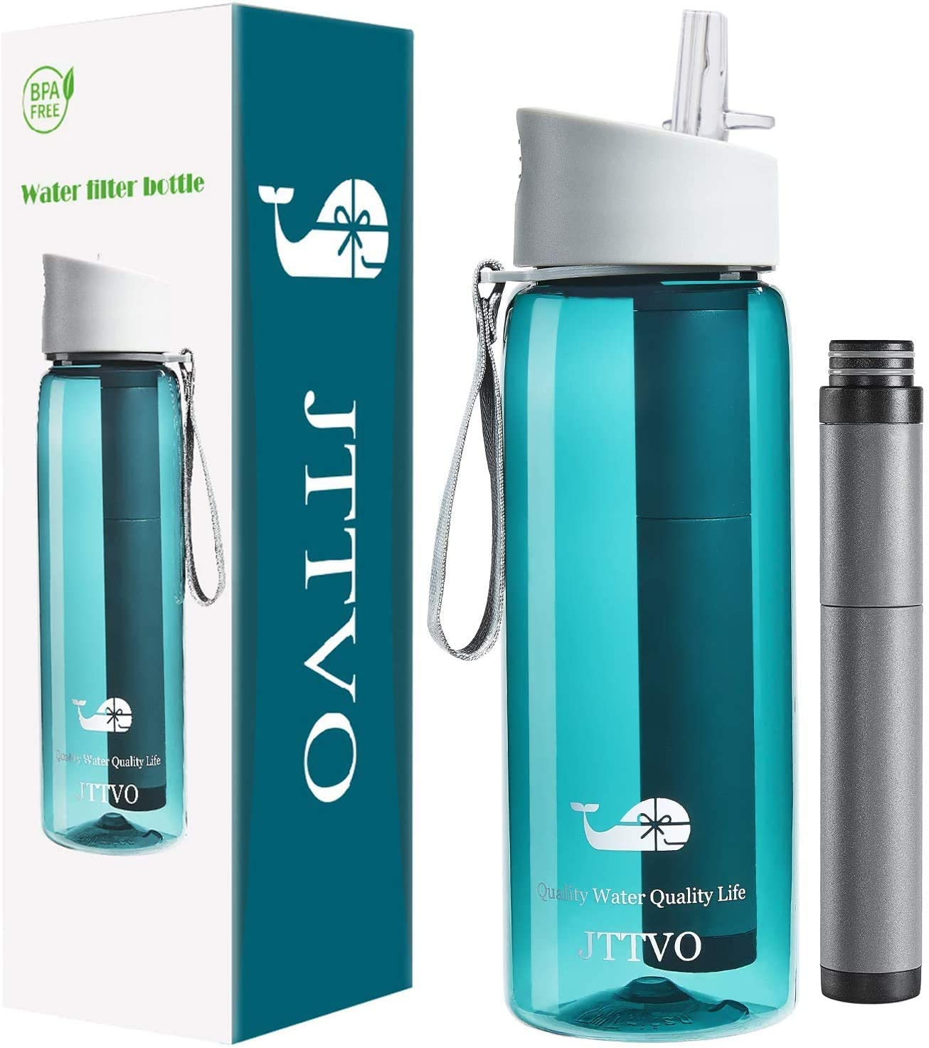 Amazon coupon code for Water Bottle with Filter for Tap Water