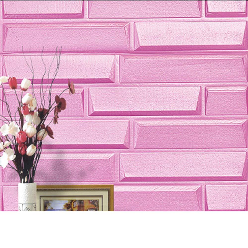 YETUGE 3D 壁紙 レンガ 防音 壁紙シール レンガブリック クッション  DIY ウォールステッカー 補修 おしゃれ 壁用  70 * 77CM B07GH75SVT 二十枚|2 2 二十枚