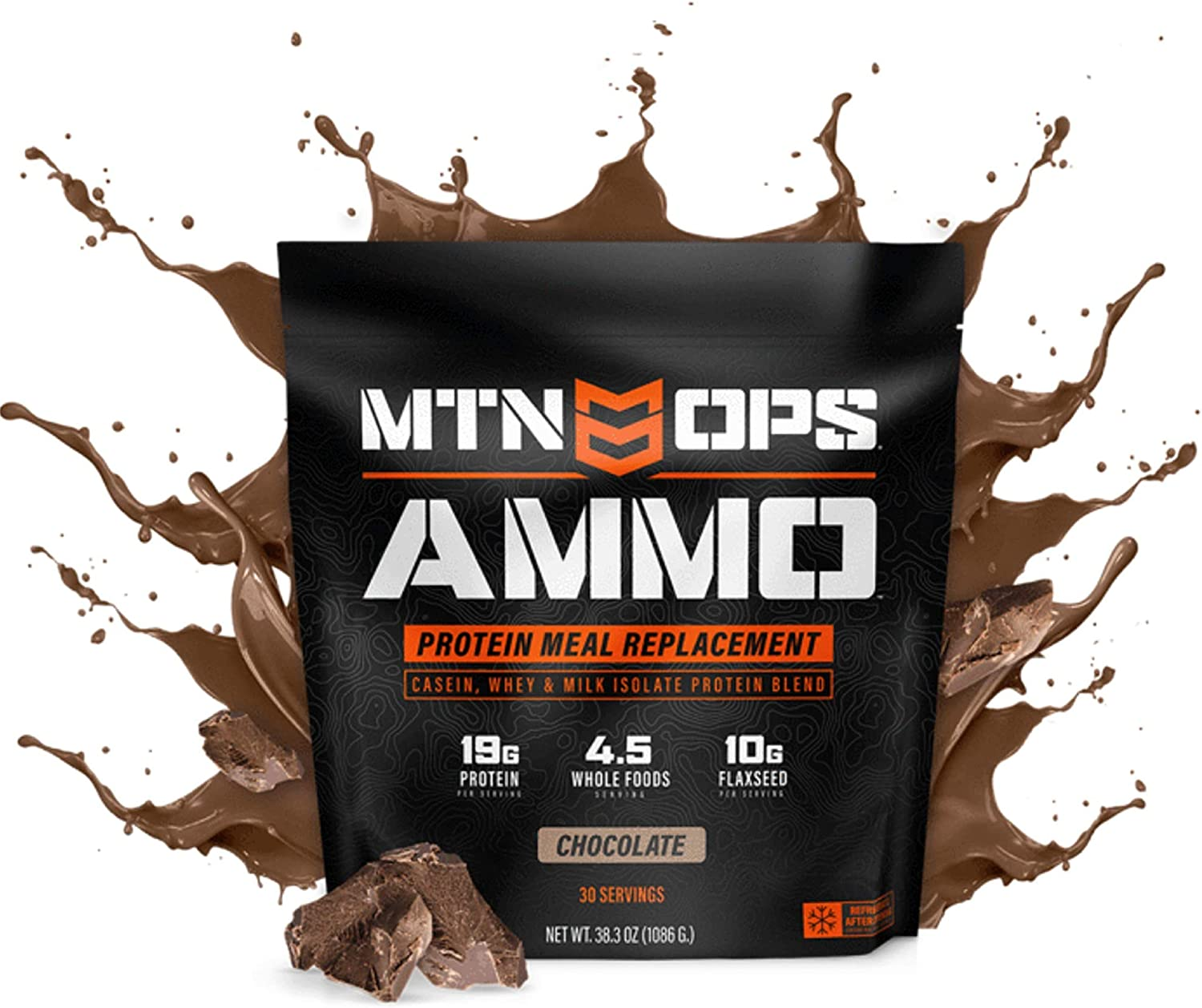Amazon Com Mtn Ops Ammo Protein Meal Replacement Powder 30 Servings Chocolate Packaging May Vary Health Personal Care