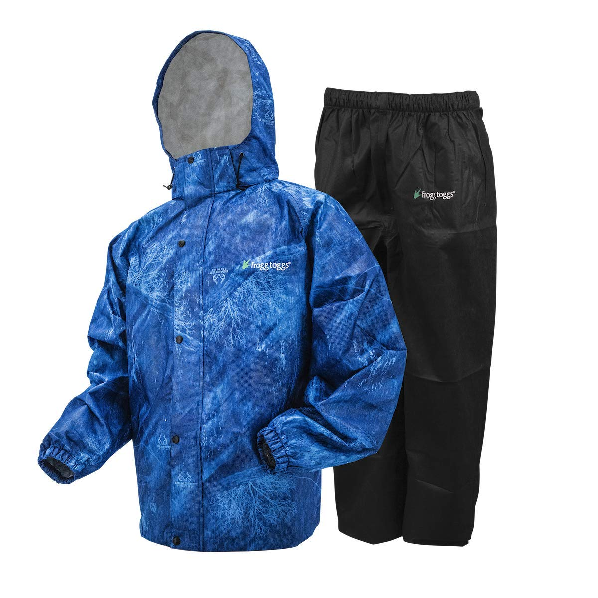Frogg Toggs All Sport Rain Suit, Realtree Fishing Black, Size XX-Large by Frogg Toggs