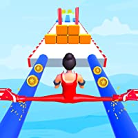 high giant stack heels rush run 3d to make a huge fat stack tower pusher with high heel over the long roof Pro