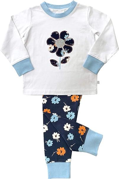 Pijama de corte flaco con estampado floral y estampado floral ...