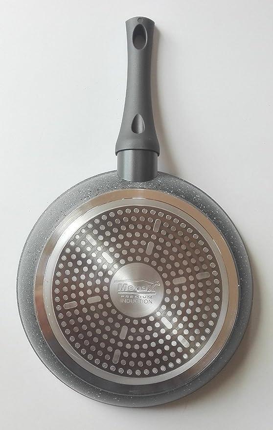 Menax Focus - Sartén de Aluminio Forjado con 5 Capas de Revestimiento Antiadherente StoneTech Piedra - Juego de 3 Sartenes - Ø 20, 24 y 28 cm: Amazon.es: ...
