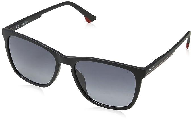 Police Track 6 Gafas de sol, Negro (Semi-matt Black), 55 para Hombre