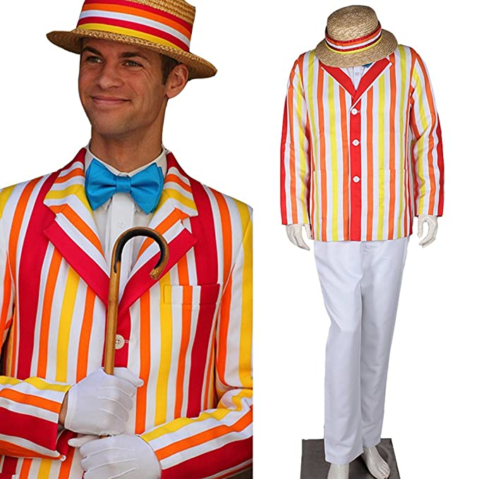 1900s Edwardian Men's Suits and Coats CosplayDiy Mens Costume Uniform for Mary Poppins Bert Cosplay $135.00 AT vintagedancer.com