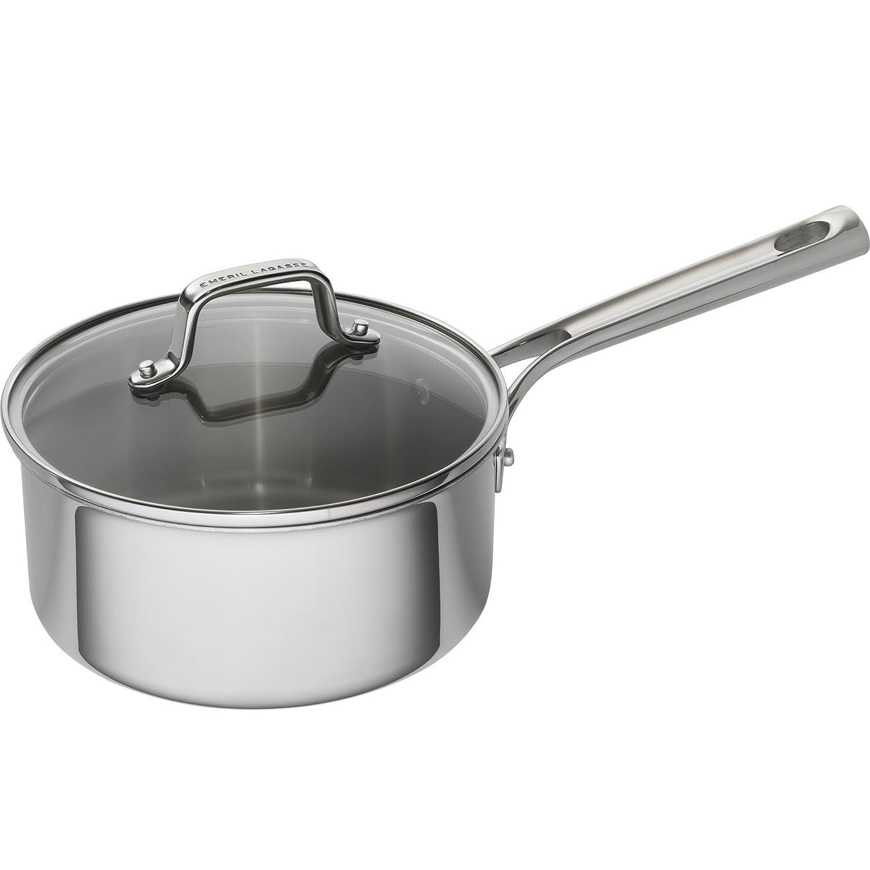 Emeril Lagasse 62856 Tri-Ply Stainless Steel Saucepan, 3 quart, Silver