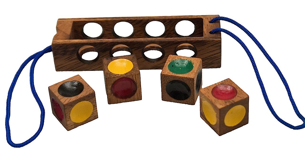 Verrückte Vier Geduldspiel Denkspiel Knobelspiel