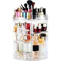 Rotating Makeup Organizer, Boxalls 360 Degree Crystal Adjustable Jewelry Cosmetic Perfumes Display Stand Box, 380 x 260…