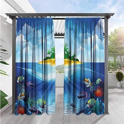 Amazon.com: Cortina personalizada Marilds para acuario ...