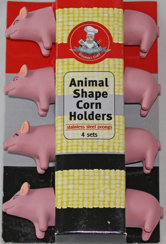 Gourmet Chef Animal (Piggy) Shaped Corn on the Cob Holders