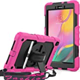 SEYMAC Galaxy Tab A 8.0 2019 Case (T290/T295), Full Body Protection Case with Built-in Screen Protector Pen Holder [360…