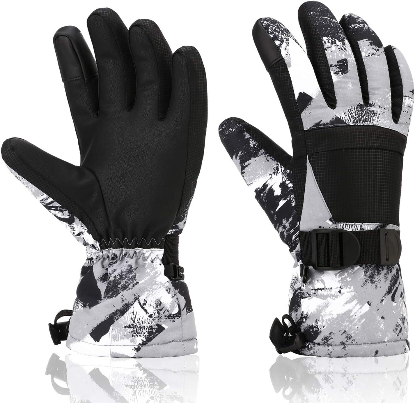 Kids Ski Gloves Winter Gloves Warm Waterproof Anti-slip Children Outdoor Sport
