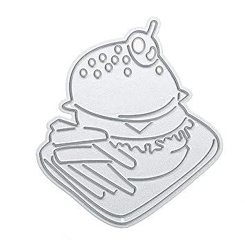 whitelotous corte muere Stencil Plantilla Molde de metal para tarjeta de papel DIY álbum de recortes