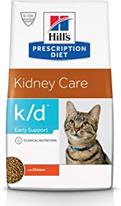 Hill's Prescription Diet k/d Early Support Kidney Care Chicken Flavor Dry Cat Food 8.5 lb bag