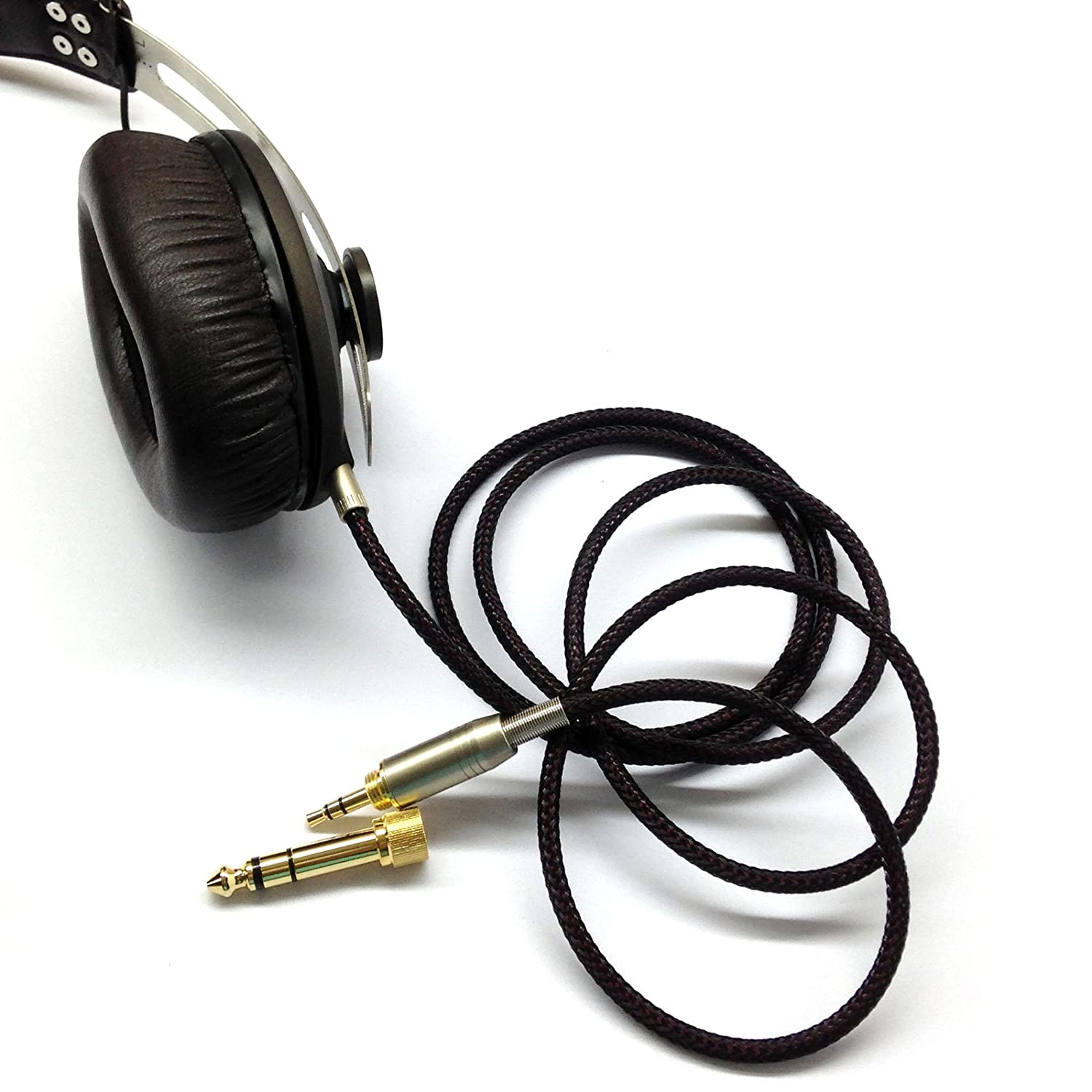 Newfantasia Replacement Audio Upgrade Cable For Sennheiser Momentum 2i Black 20 Hd1 Over Ear On Headphones 18meters 59feet