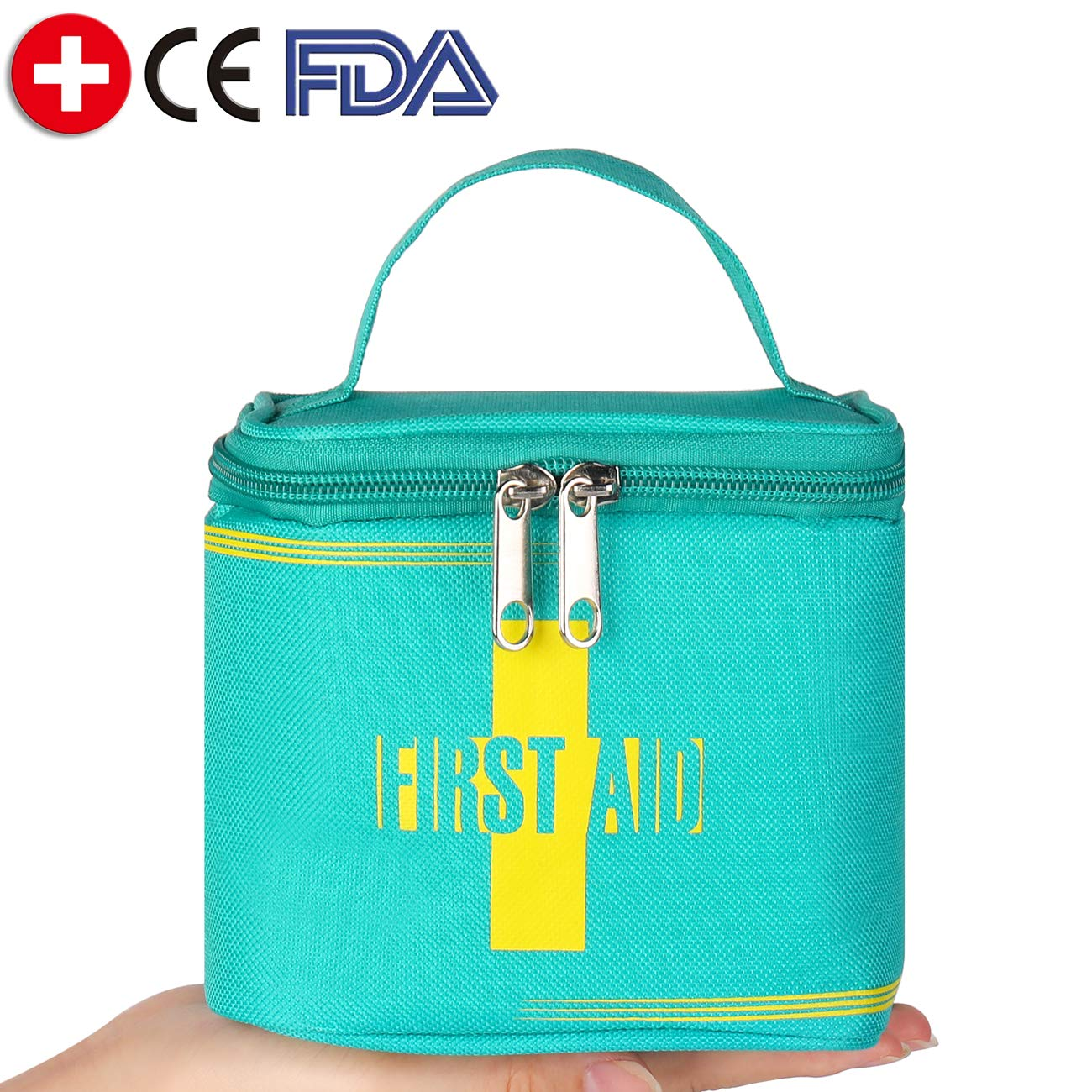 First Aid Kit Medical Survival Bag for Outdoor Sports Injuries Comprehensive Protection Water Resistant Case Safety Emergency Kit for Adventures Camping Travel Hiking Boat