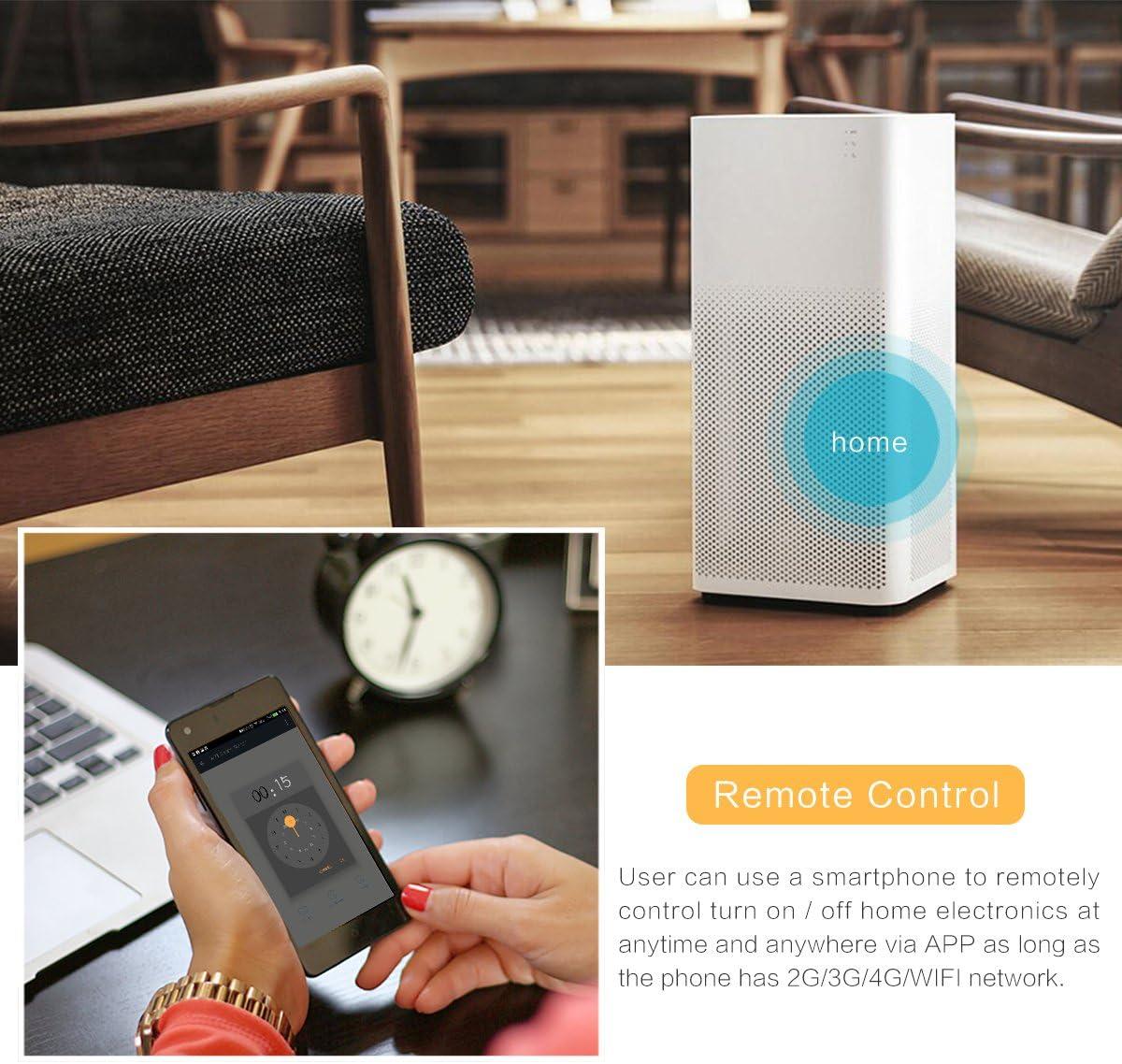 Frontoppy Smart Switch haute puissance charg/é universel sans fil DIY App contr/ôle domotique module avec Alexa//Google Home Voice Control Minuteur compte /à rebours et pour iOS Smartphone Android