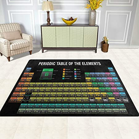 Orediy Large Foam Soft Rugs Periodic Table Lightweight Kids Playing Mat Floor Yoga Mat Nursery Rug for Living Room Bedroom