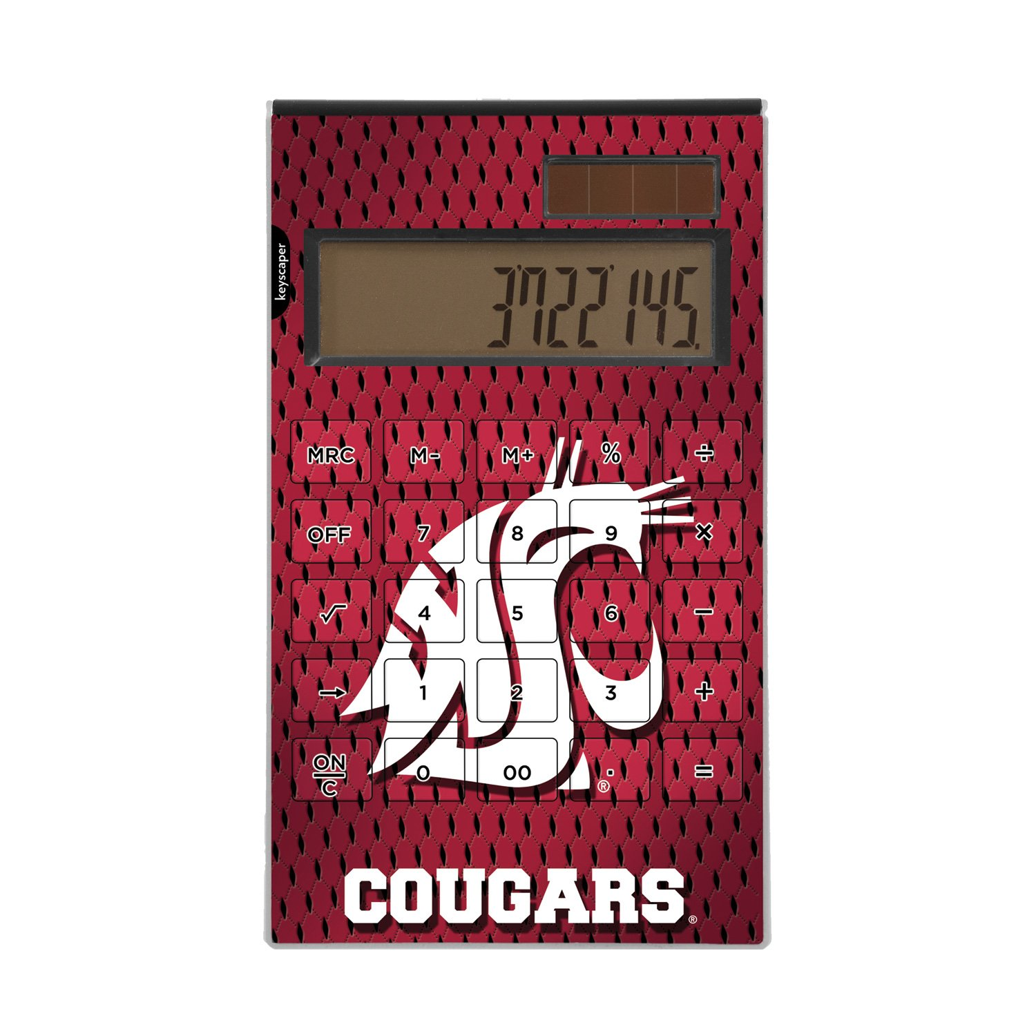 Washington State Cougars Desktop Calculator officially licensed by Washington State University Full Size Large Button Solar by keyscaper® by Keyscaper