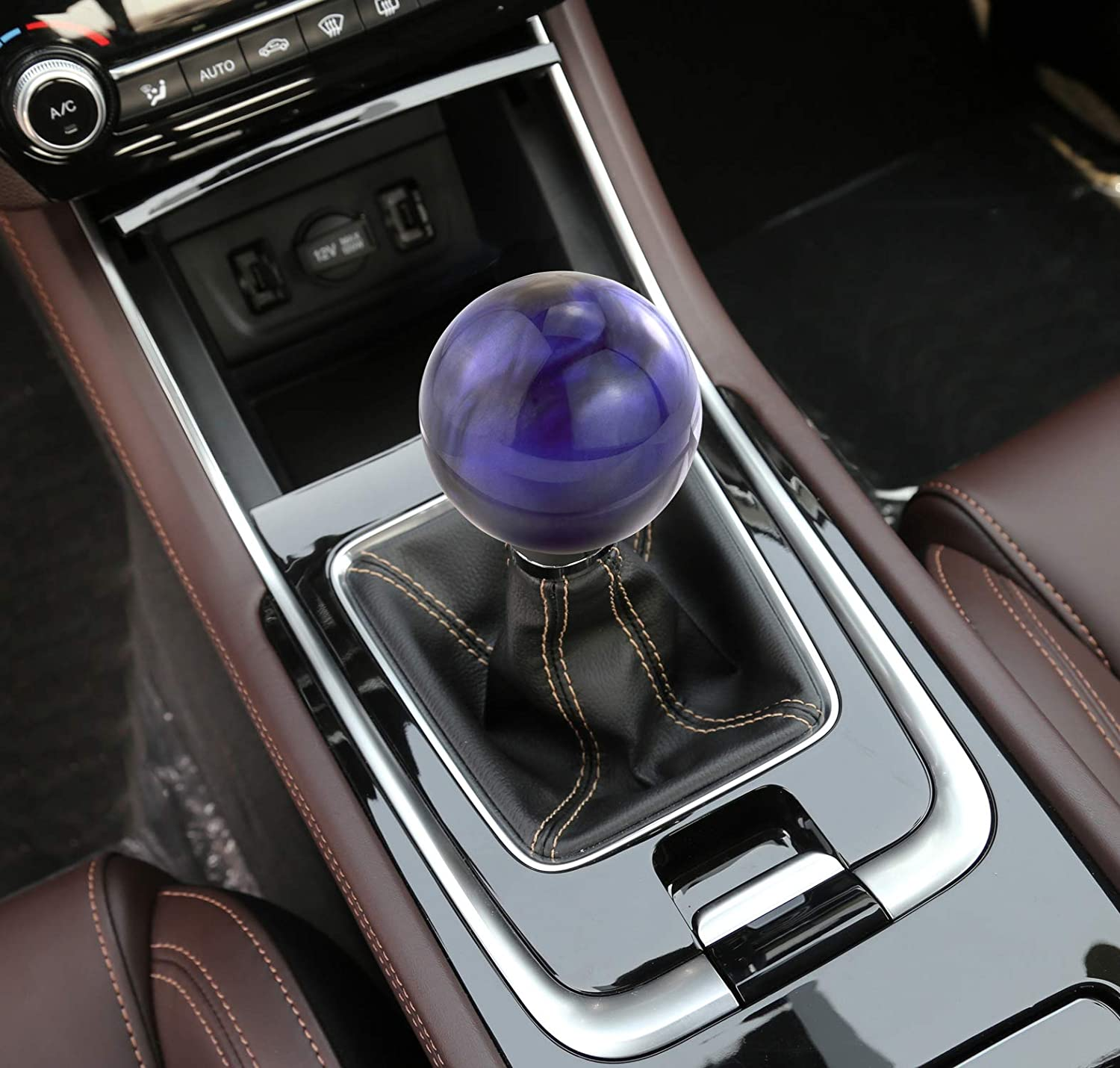 Gray Abfer Ball Shift Knob Car Gear Stick Shifter Knobs Shifting Lever Replacement Fit Universal Automatic Manual Transmission Vehicles