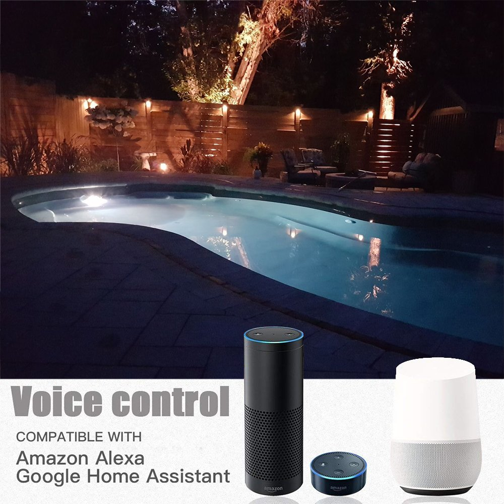 Fvtled Wifi Controlled 10pcs Low Voltage Led Deck Lights Kit F1 38 Outdoor Recessed Step Stair Warm White Led Lighting Work With Alexa Google Home Wifi Deck Lights Black