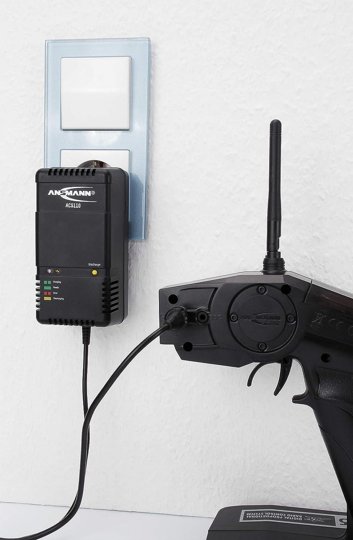 option de pr/é-d/écharge polyvalent pour pack batterie de 1 /á 10 /él/éments NiMH//NiCd de 1,2 V /á 12 V arr/êt automatique ANSMANN ACS110 Chargeur de batterie Chargeur intelligent