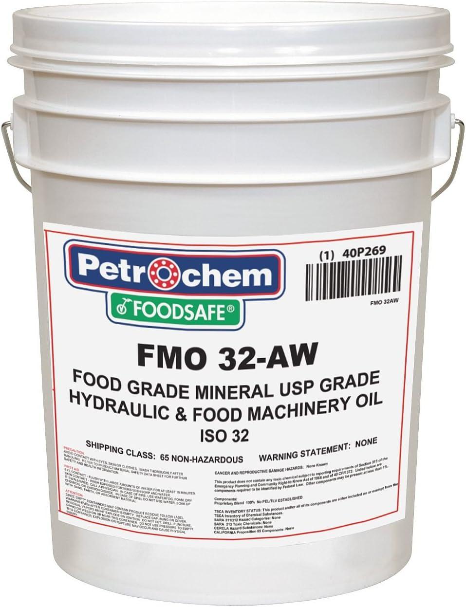 Petrochem Mineral Hydraulic Oil, Food Grade, 5 gal.