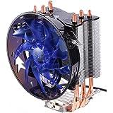 KIPOOH Dissipatore di Processore con Ventola per CPU '4 Heatpipes, 1 x Ventola da 120mm PWM Ultra Silenzioso, Connettore da 4-Pin