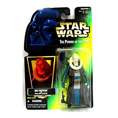 Star Wars Return of the Jedi Power of the Force POTF2 Collection 2 Bib Fortuna Action Figure [Hologram Card]: Toys & Games