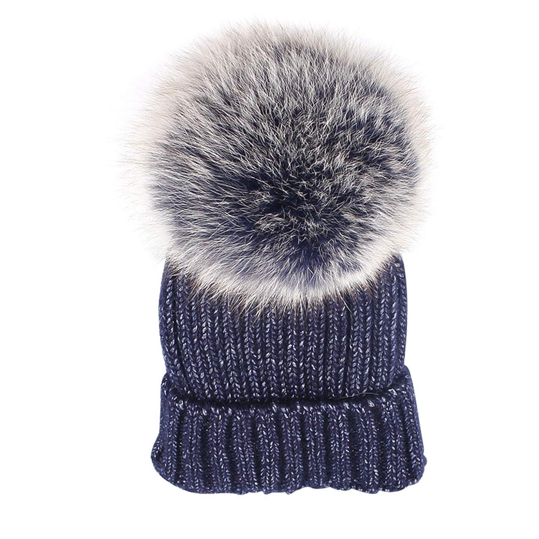 3 SANOMY Womens Winter Knitting Hat,Warm Bling Beanies Pompom Knitted Hat Beanie Skull Cap