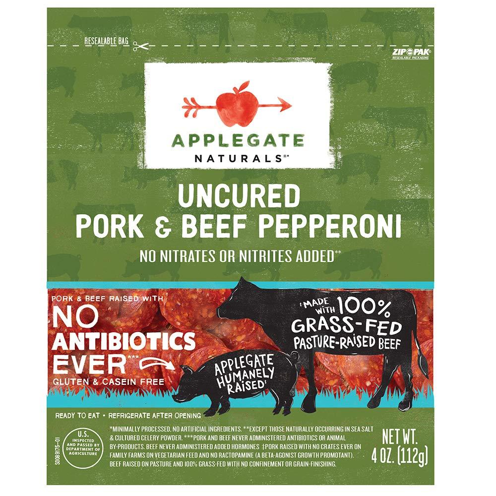 Applegate, Natural Uncured Pork & Beef Pepperoni, 4oz