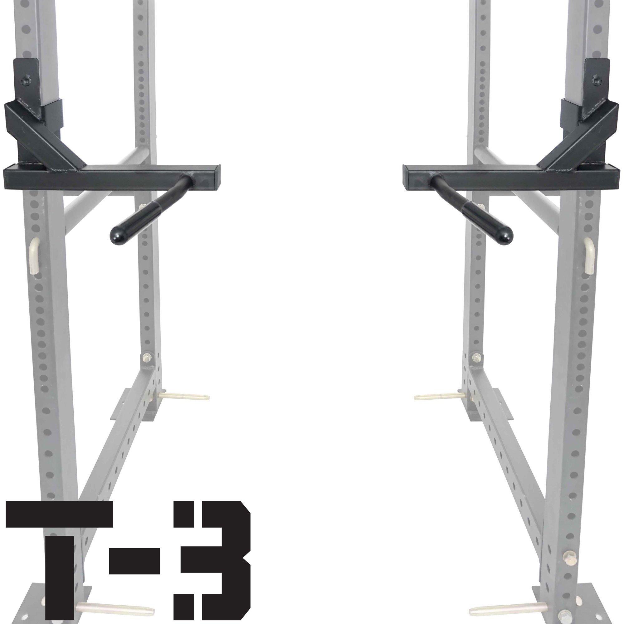 Titan T-3 Series Dip Attachment Bars for 2''x3'' HD Power Rack Strength Training