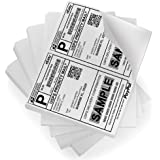 PackingSupply Shipping Labels with Self Adhesive, for Laser & Inkjet Printers, 8.5 x 5.5 Inches, White, Pack of 200 Labels