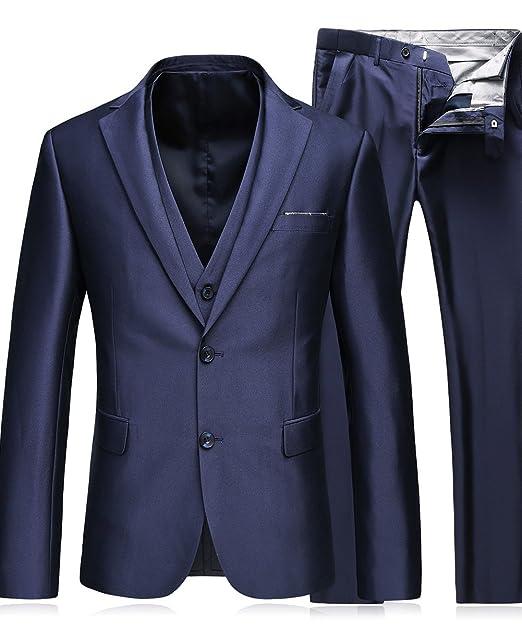 MOGU hombre moderno 3 piezas traje de chaqueta formal de ...