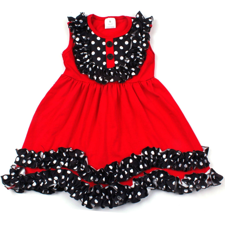 fd1254d29 Amazon.com: Yliyang Kids Girls Ruffle Spring Summer Cotton Dress Baby  Boutique Dresses: Clothing