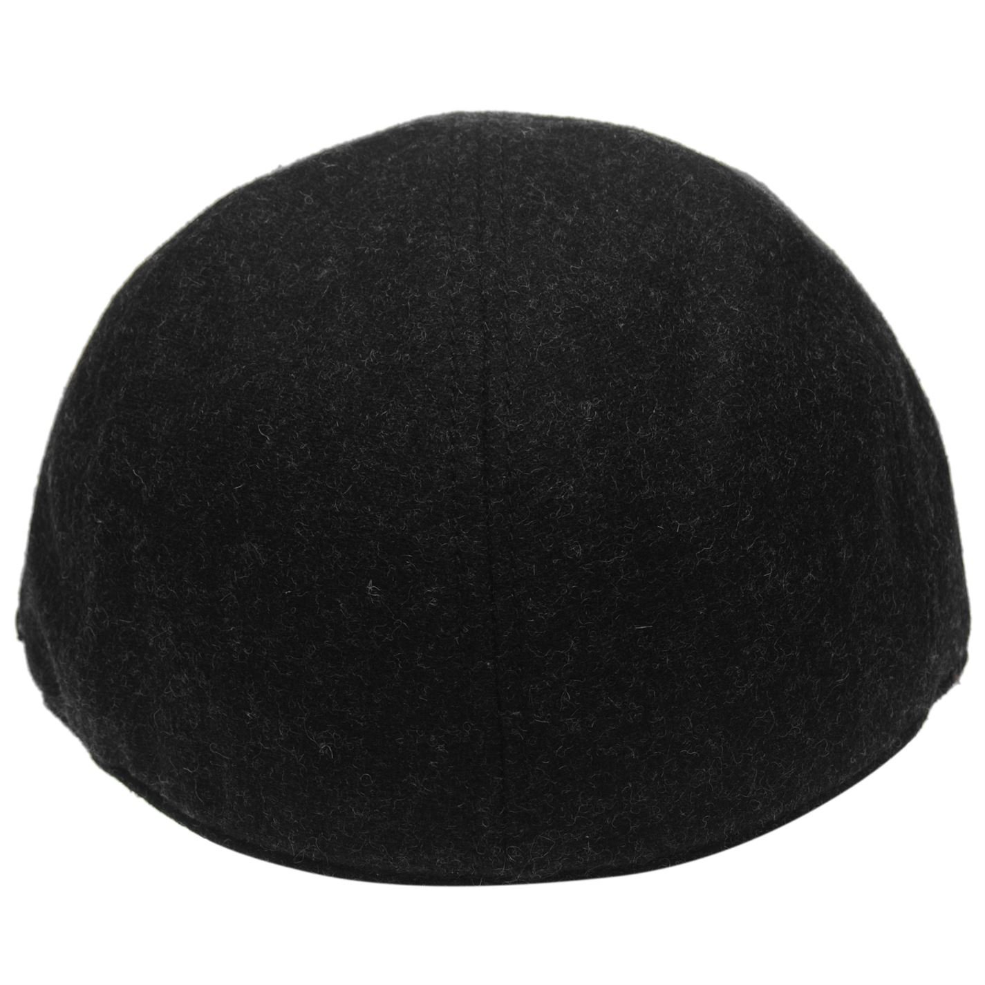 f16d28e9 Firetrap Mens Mesa Gatsby Cap Covered Peak Polyester Wool Mens Black:  Amazon.co.uk: Clothing