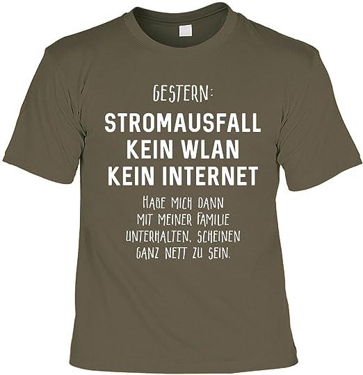 Lustiges Spruche Shirt Geschenkartikel T Shirt Mit Urkunde Gestern