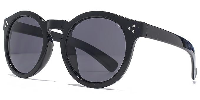 0ad3aca3e0e7 M:UK Camden Vintage Round With Stud Detail Sunglasses in Black MUK147851:  Amazon.co.uk: Clothing