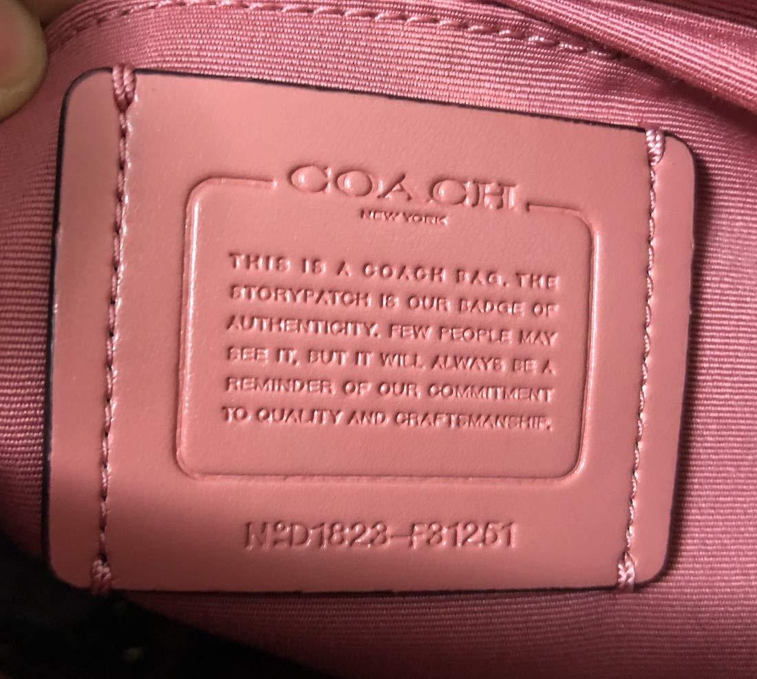 Coach Womens Mini Brooke Carryall Handbag, Signature Crossgrain Leather, Detachable Crossbody Strap