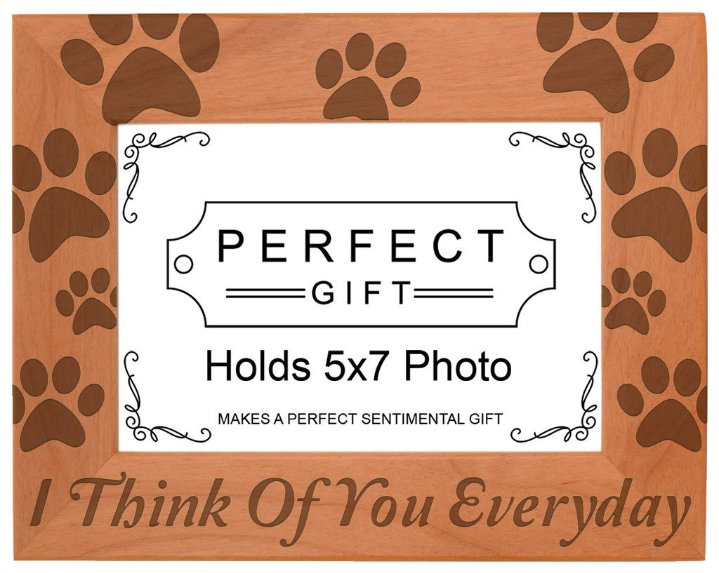 Gifts For All By Rachel Olevia Pet Memorial Gift I Think You Everyday Natural Wood Engraved 5x7 Landscape Picture Frame Wood by Gifts For All By Rachel Olevia