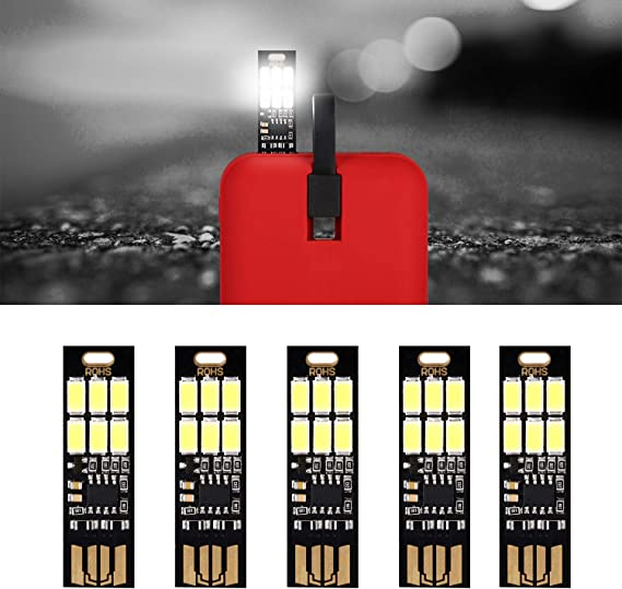 Yizhet 5 Piezas de Lámpara Super Brillante de 6 LEDs,UEB Tarjeta ...