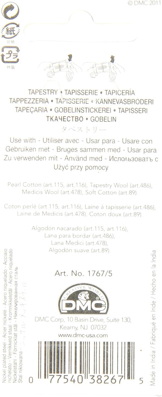 Size 18 DMC 1767-18 Tapestry Hand Needles 6//pkg
