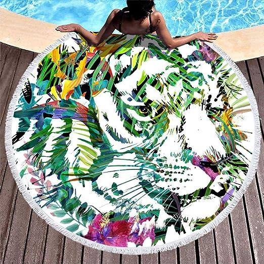 Shinelly - Esterilla de Yoga, diseño de Tigre, Redonda, de ...