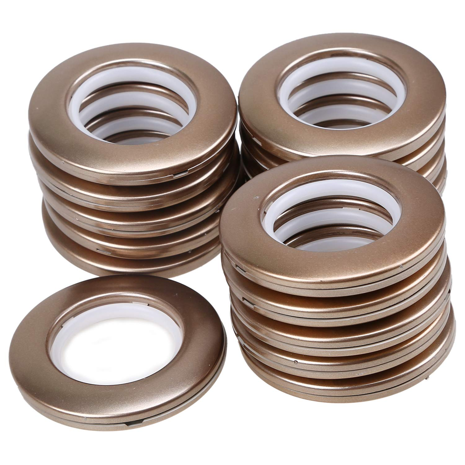 LANDGOO Curtain Grommets 1-9//16-Inch Inner Diameter 16-Pack Copper,