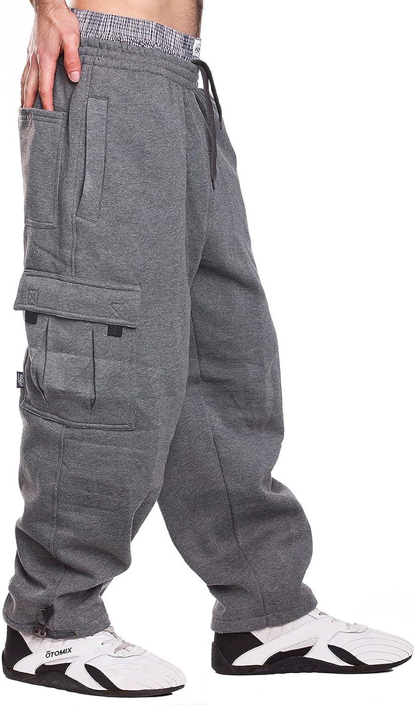 Mens Fleece Cargo Sweatpants