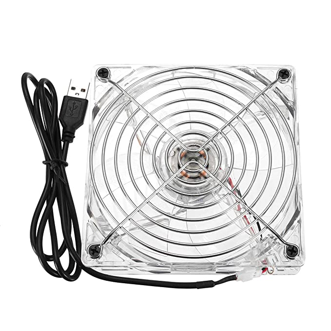Amazon Com 120mm Blue Led Usb Computer Case Cooling Fan Cooler Heat