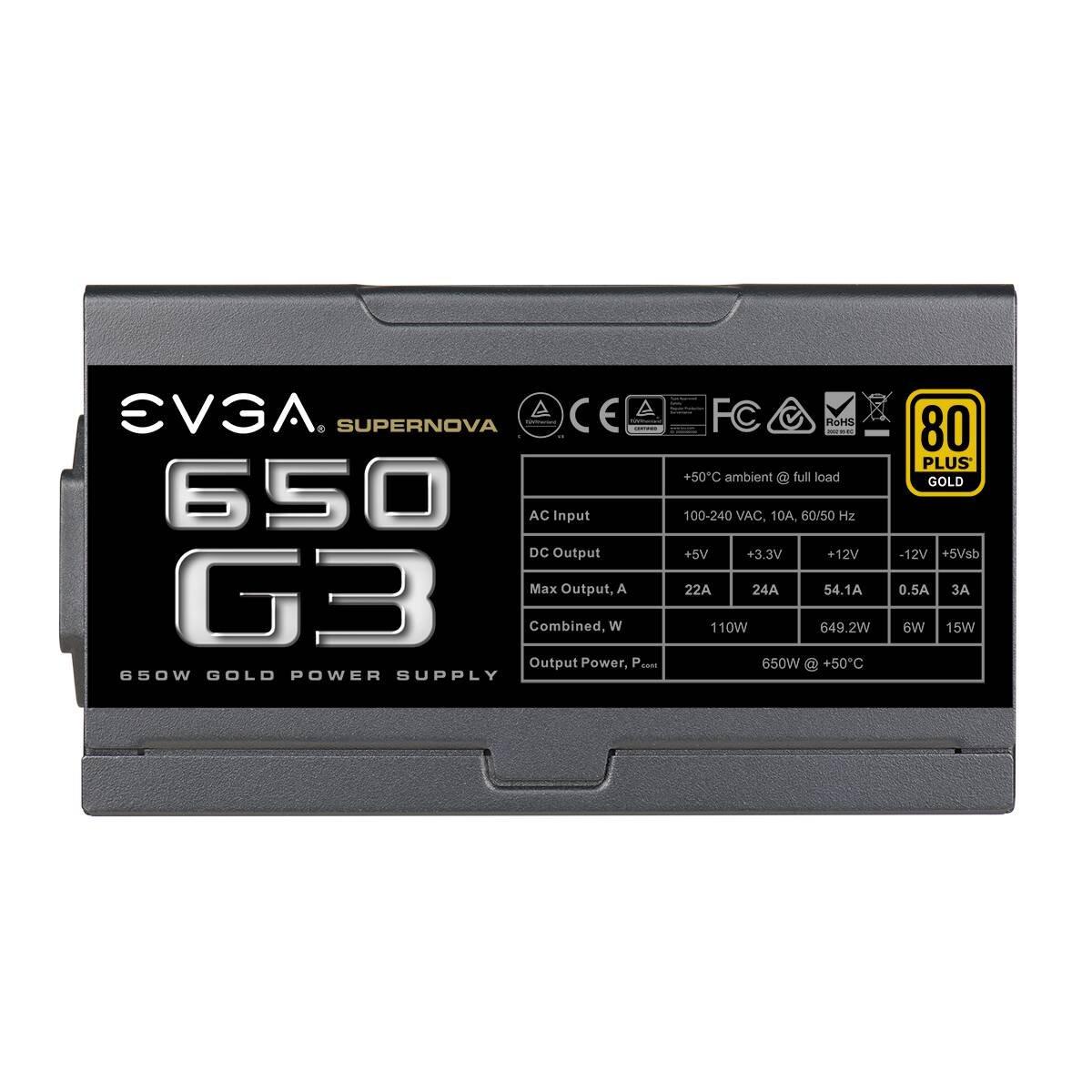 EVGA ECO Modo EVGA 650 GQ Alimentazione PC 210-GQ-0650-V2 Semi Modular 5 anni Garanzia 80+ GOLD 650W