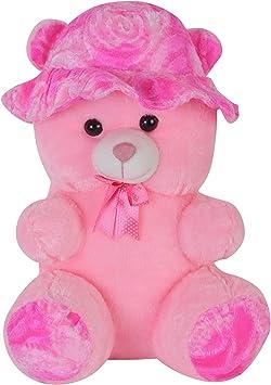 AVSHUB Stuffed Spongy Hugabble Soft Cute Cap Teddy Bear - 55 cm (Pink)