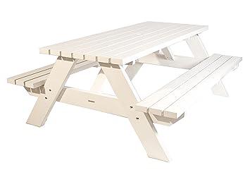 Outdoor Küche Aus Holland : Picknicktisch weiß 220 cm picknickbank weiß trend aus holland